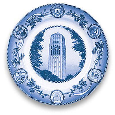 Classic Collegiate China University of Michigan Burton Memorial Tower Plate