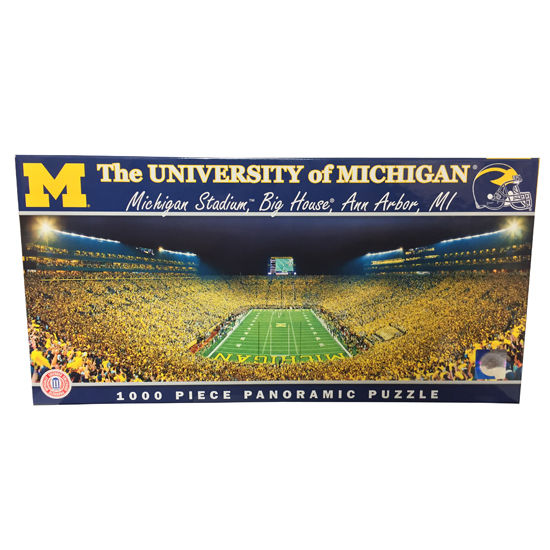 Master Pieces University of Michigan Football 1000 Piece Panoramic Puzzle