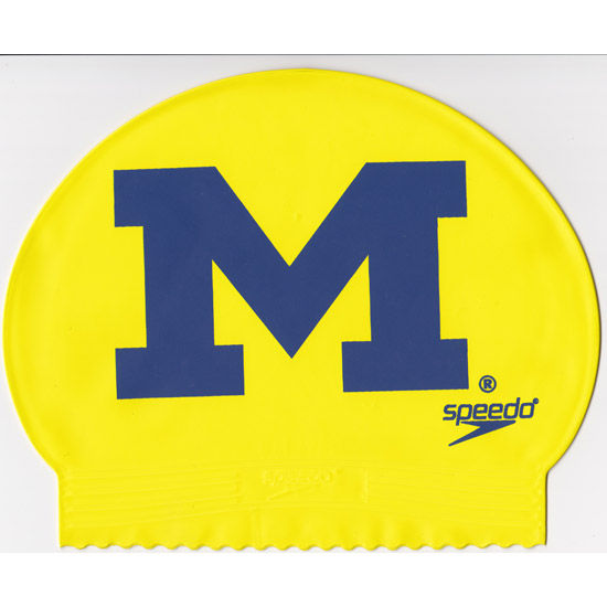 Speedo university of michigan yellow swimming cap - University of michigan swimming pool ...