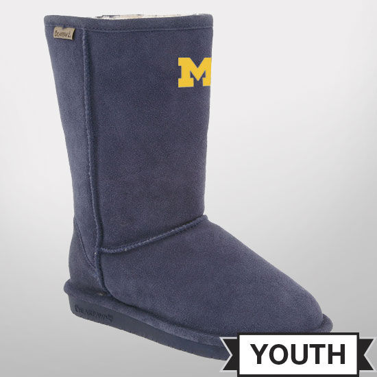 Bearpaw Boots University of Michigan Emma Youth 8'' Boots