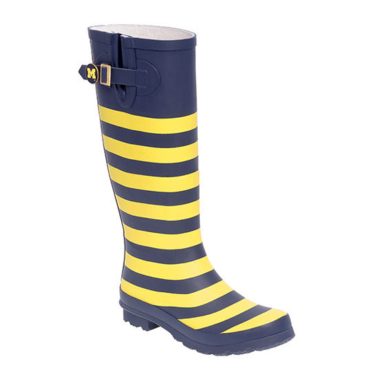Lillybee University of Michigan Striped Rain Boots