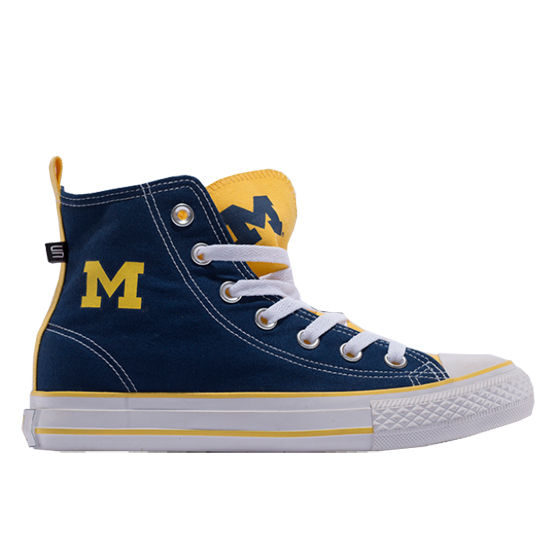 Skicks University of Michigan WOMEN'S Colorblock High-Top Sneakers
