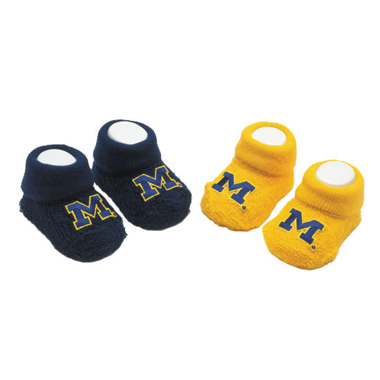 FBF University of Michigan 2 Pair Baby Booties