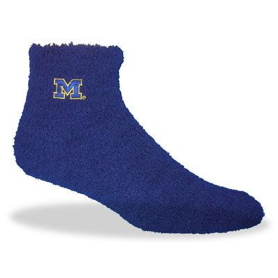 Navy Michigan Cozy Socks