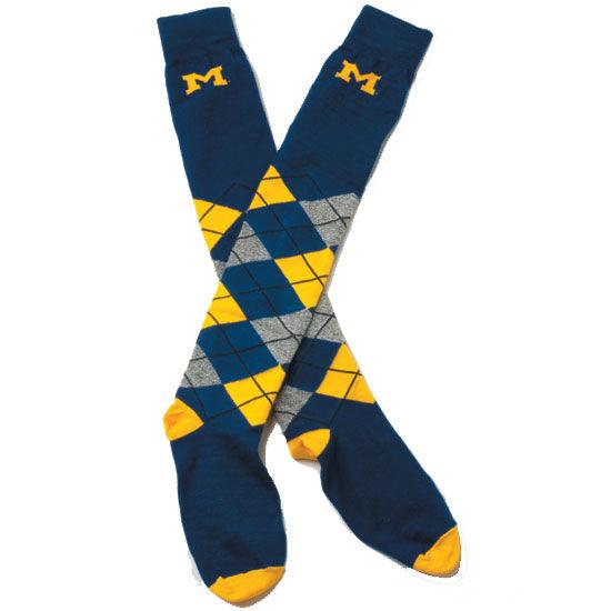 Tall Argyle Michigan Sock