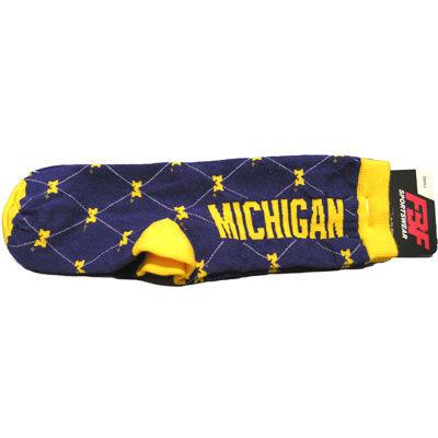 Michigan Diamond Pattern Socks