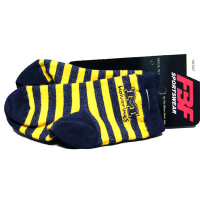 FBF University of Michigan Infant/ Toddler Striped Socks