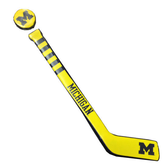 Baden University of Michigan Hockey Soft Touch Stick & Puck Set