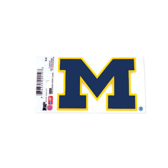 WinCraft University of Michigan Navy Block ''M'' Static Cling