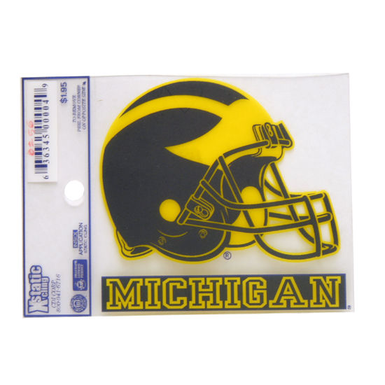 WinCraft University of Michigan Football Helmet Static Cling Decal