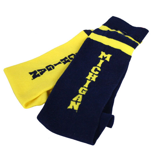 Retro 2 Color Michigan Tube Sock