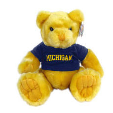 Chelsea Teddy Bear Co. University of Michigan Yellow Knuckles 10 Bear