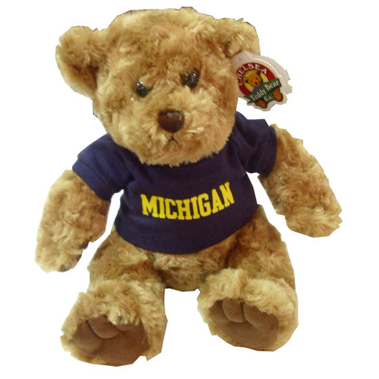 Chelsea Teddy Bear Co. University of Michigan Traditional 10'' Bear
