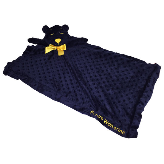 Mascot Factory University of Michigan Future Wolverine Teddy Bear Blanket