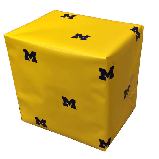 MCM University of Michigan Yellow Scattered Block M Wrapping Paper