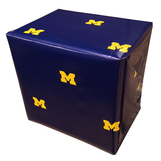 MCM University of Michigan Navy Scattered Block M Wrapping Paper