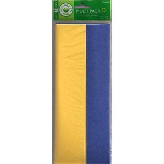 Jillson Roberts University of Michigan Navy and Yellow Tissue Paper