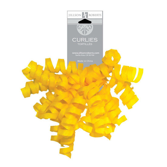 Jillson Roberts University of Michigan Yellow Crossgrain Curly Bows