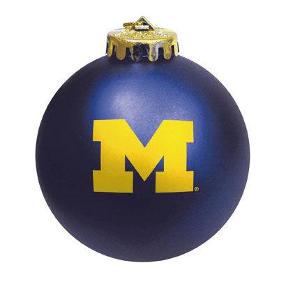 MCM University of Michigan Navy Block M Shatterproof Ornament