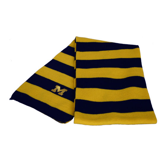 LogoFit University of Michigan Striped Niagara Scarf