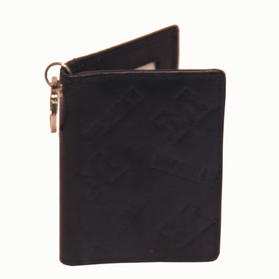 Navy Leather Michigan ID Holder