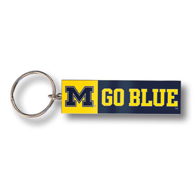 MCM University of Michigan Brass M Go Blue Key Chain