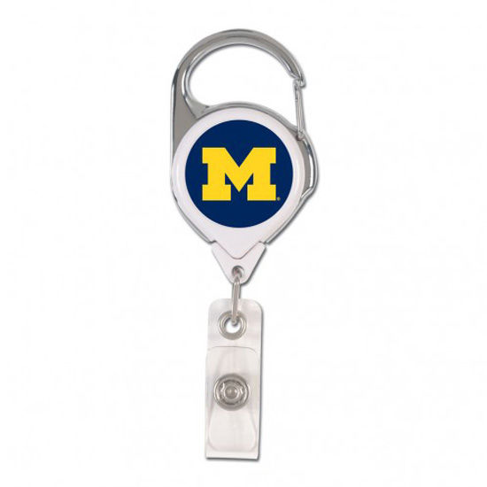 WinCraft University of Michigan Premium Retractable Badge Holder