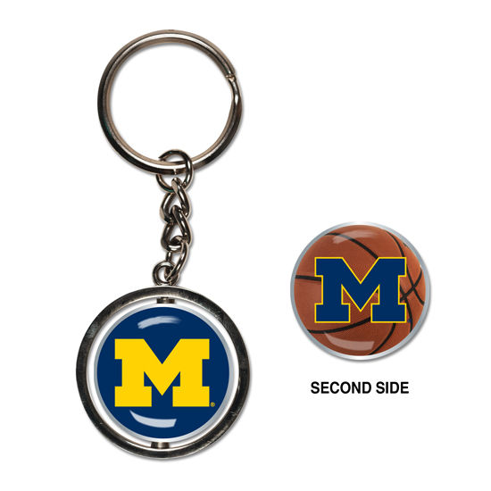 WinCraft University of Michigan Basketball Spinner Keychain