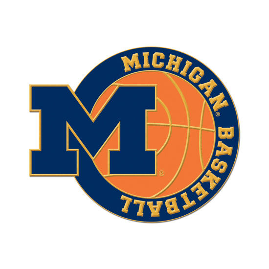 WinCraft University of Michigan Basketball Block M Lapel Pin