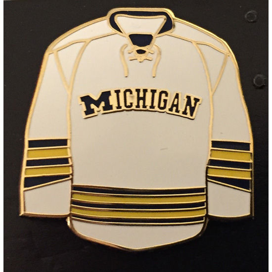 WinCraft University of Michigan Hockey White Jersey Lapel Pin