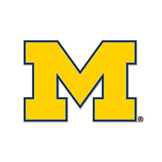 WinCraft University of Michigan Yellow Block M Lapel Pin