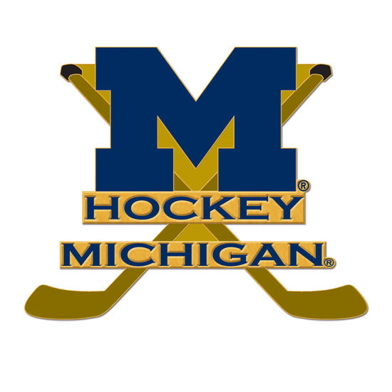 WinCraft University of Michigan Hockey Block M with Sticks Lapel Pin