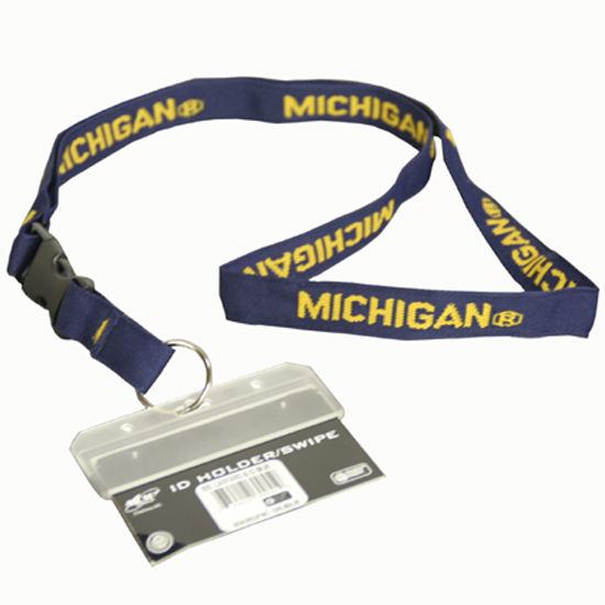 MCM University of Michigan Lanyard ID Holder/Swipe