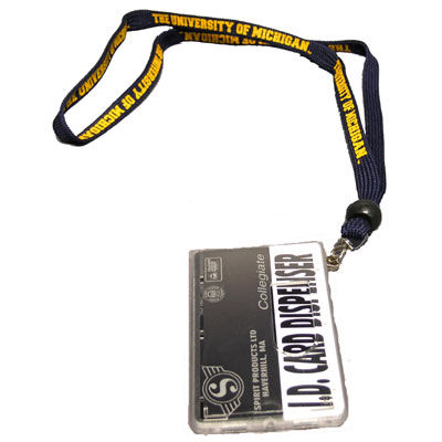 Spirit Products University of Michigan Lanyard with ID Card Dispenser