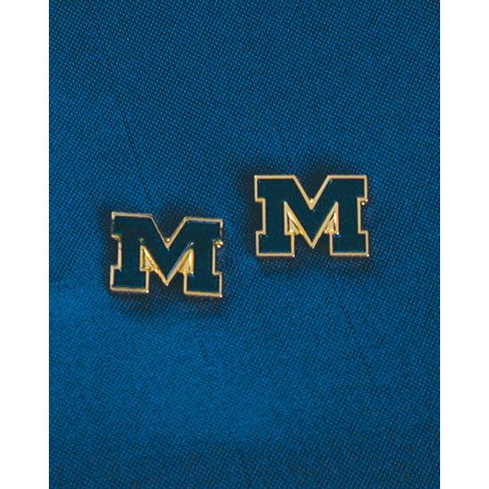 WinCraft University of Michigan Block M Post Earrings