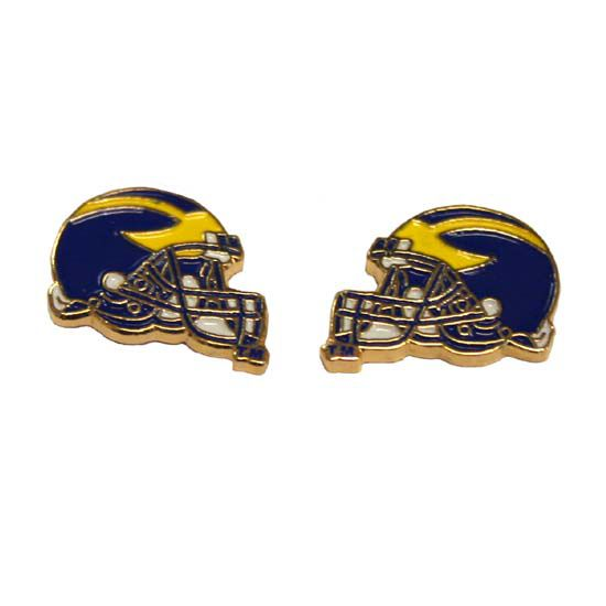 Michigan Helmet Post Earrings