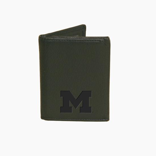 Canyon Classic University of Michigan Tri-Fold Black Wallet