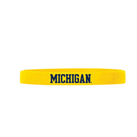 Forever Collectibles University of Michigan Yellow Team ID Bands