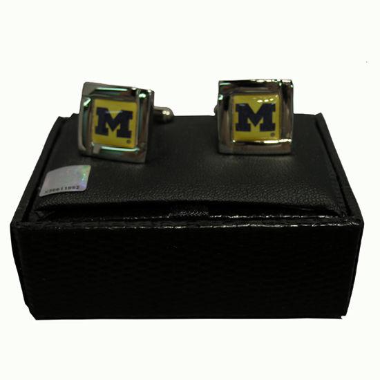 Aminco University of Michigan Square Cuff Links