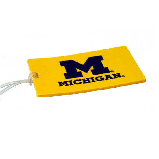 Spirit Products University of Michigan Yellow Luggage Tag