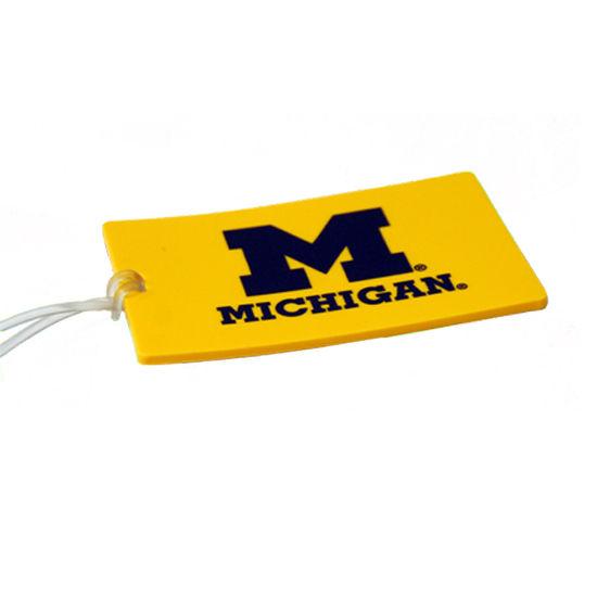Spirit Products University of Michigan Yellow Luggage Tag