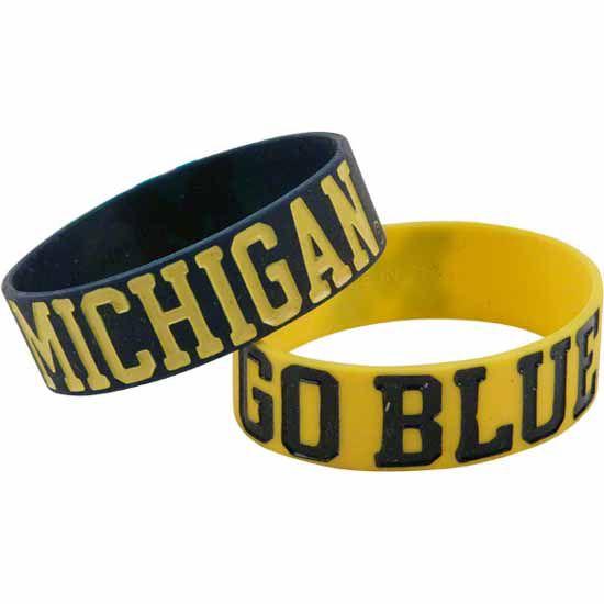 2 Pack of Elastic Michigan Bracelets
