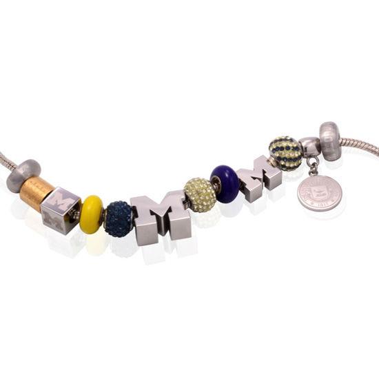 CNote University of Michigan 12 Bead Charm Bracelet