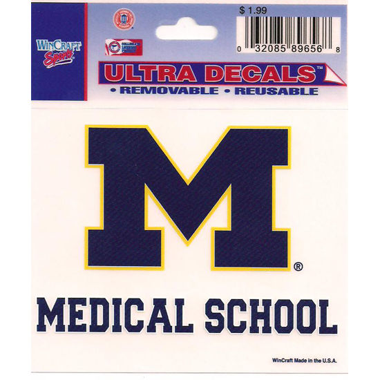 Wincraft University of Michigan Medical School Decal - 3 x 3.75