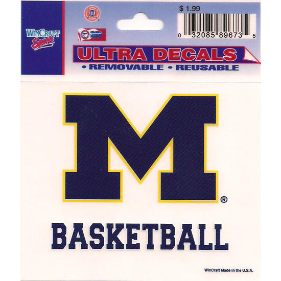 Wincraft Michigan Wolverines Basketball Decal - 3 x 3.75