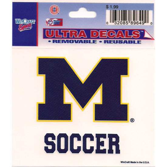 Wincraft Michigan Wolverines Soccer Decal- 3 x 3.75