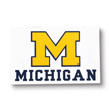 CDI University of Michigan Block M Sticker
