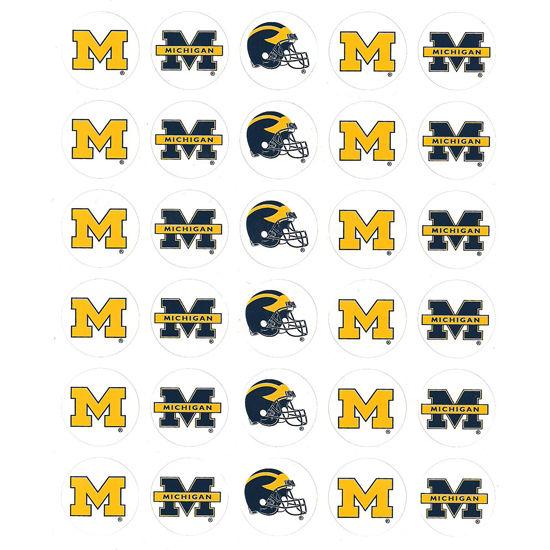 Pine University of Michigan Football Round Decal Sheet (30 Decals)