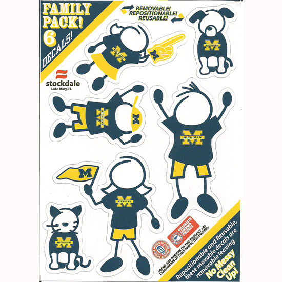 Stockdale University of Michigan Family Decal Pack