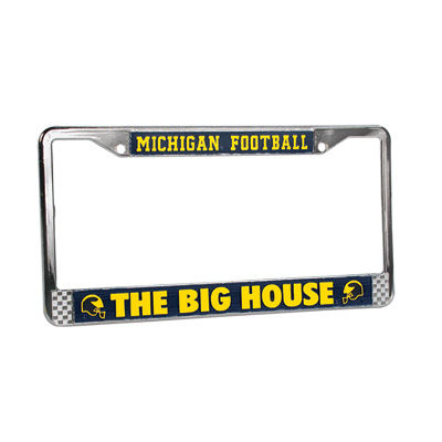 University of Michigan Football The Big House License Plate Frame